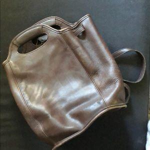 Chocolate brown vintage coach top handle backpack
